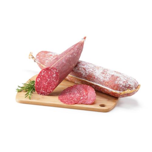 Dos piezas de salchichón magnum elaborado por Embutidos Escámez. Venta online.