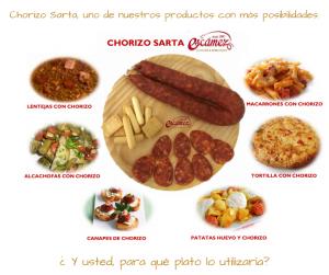 Chorizo Sarta Escámez – Uno de nuestros productos con más posibilidades.