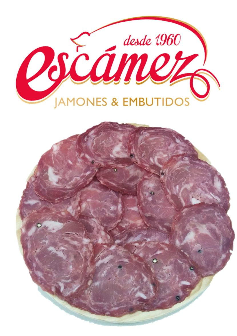 Plato de chorizo blanco de Embutidos Escámez.