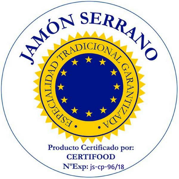 Certificado ETG Jamón Serrano Nº Exp: js-cp-96_2018