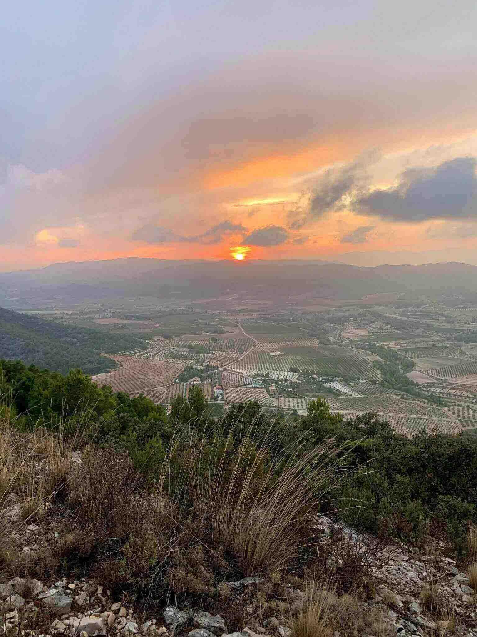 Sierra del Castellar en Bullas (Murcia). Vista desde arriba.