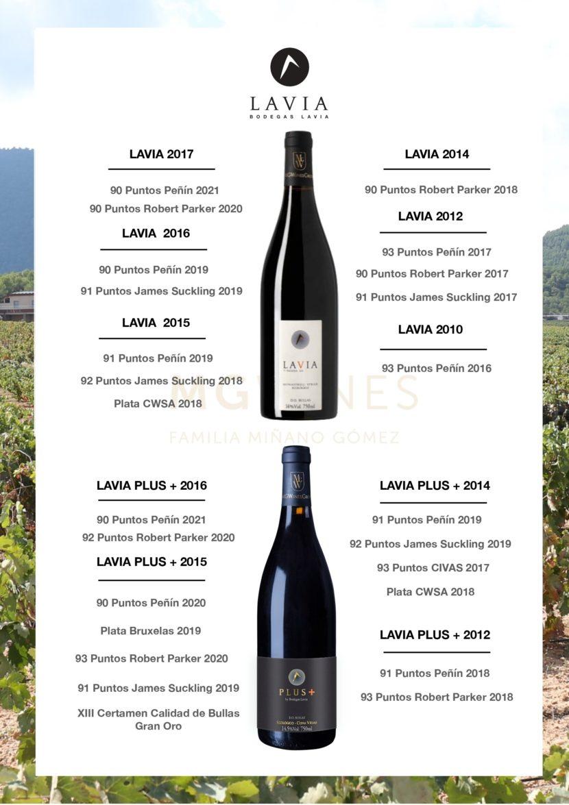 Catálogo de vinos Lavia