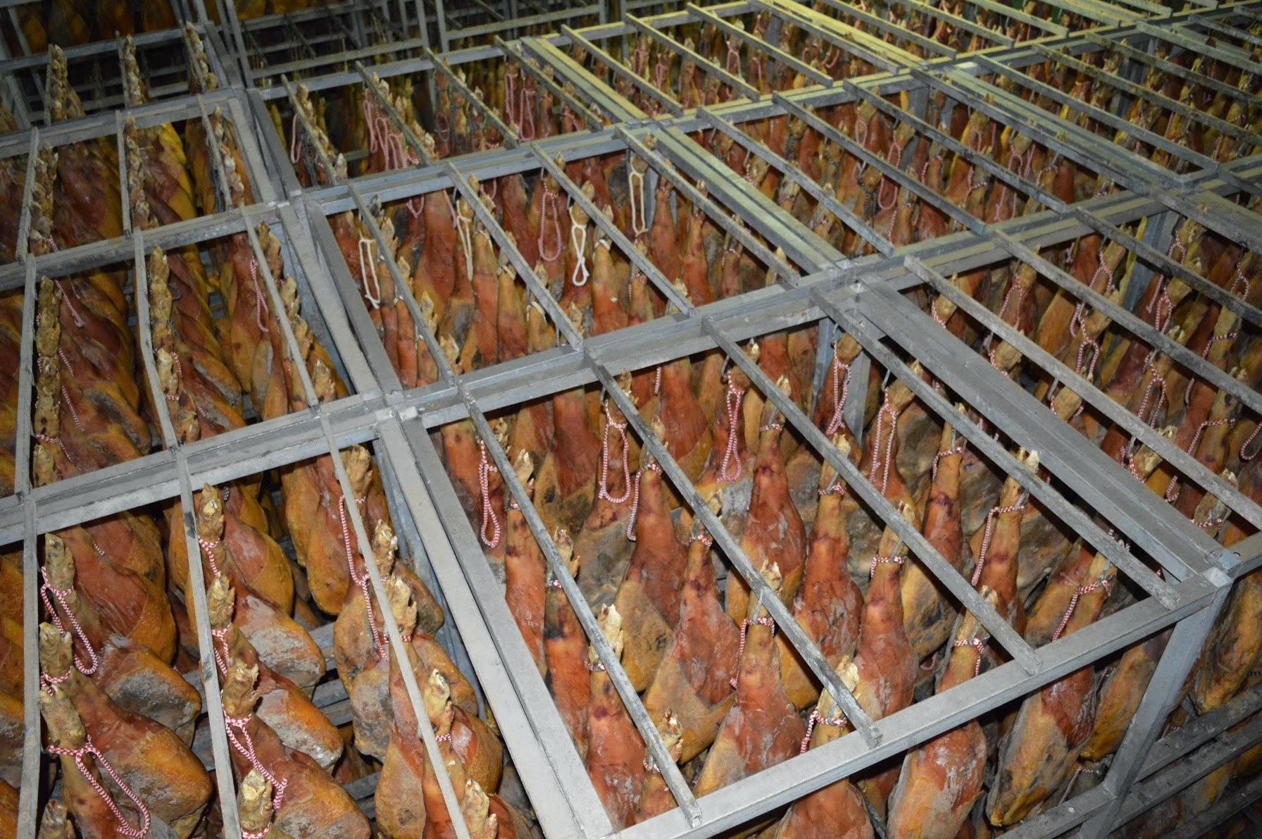 Vista desde arriba del secadero natural de jamones.