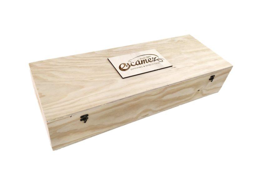 Caja jamonera de madera Escámez