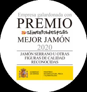 """Premio """"Mejor Jamón Serrano de España""""."""